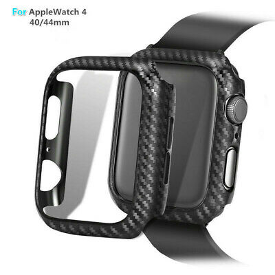 $ CDN6.89 • Buy For Apple Watch Series 4 38/42/40/ 44mm Carbon Fiber Pattern  Bumper Case Cover
