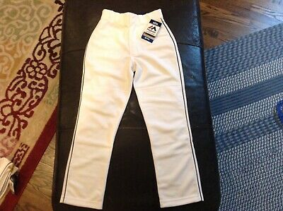 $26.99 • Buy NWT Majestic Authentic MLB Baseball Pants White With Black Piping SZ Youth M