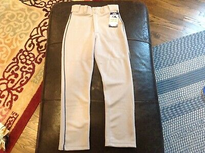 $26.99 • Buy NWT Majestic Authentic MLB Baseball Pants Gray With Black Piping SZ Youth M