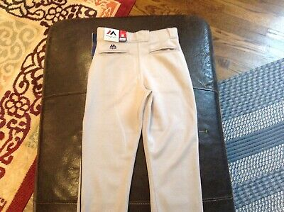 $26.99 • Buy NWT Majestic Authentic MLB Baseball Pants White With Blue Piping SZ Youth L