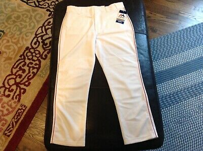 $32.39 • Buy NWT Majestic Authentic MLB Baseball Pants White With Red  Piping SZ Youth XL