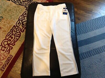 $32.39 • Buy NWT Majestic Authentic MLB Baseball Pants White With Black Piping SZ Youth XL