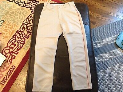 $41.39 • Buy NWT Majestic Authentic Cool Base MLB Baseball Pants Gray With Red Piping SZ S