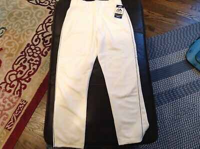 $41.39 • Buy NWT Majestic Authentic Cool Base MLB Baseball Pants White With Blue Piping SZ M