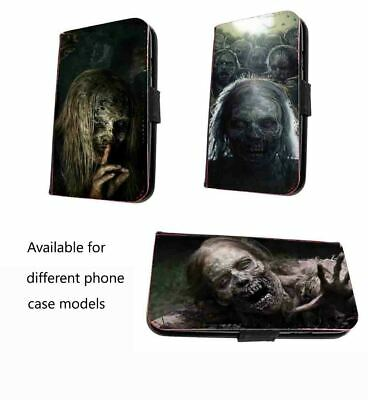 Zombie Scary Phone Case Faux Leather Walking Dead Case For IPhone Samsung Huawei • 11.20£