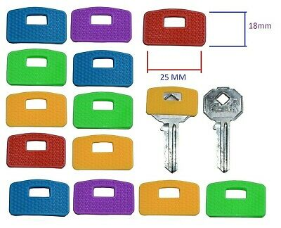 £3.99 • Buy Large Rubber Key Caps Top Cap Coloured Covers Plastic Cover Tag Door Identifier