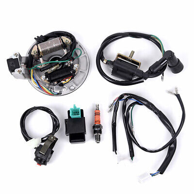 $41.33 • Buy For 50-125cc Kick Start Dirt Bike Wire Harness Wiring Loom CDI Coil Magneto Kit