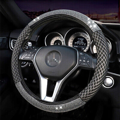 $22.22 • Buy Women's New Steering Wheel Cover Drill Breathable Ice Silk Car Accessories