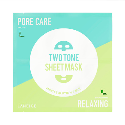 Laneige Two-Tone Sheet Mask (Pore Care & Relaxing) • 6.99£