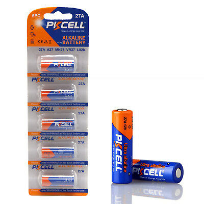 AU6.44 • Buy PKCELL 5PCS 12V A27 27A L828 G27A MN27 VR27 Alkaline Battery For Doorbell Remote