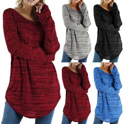 Plus Size Women Ladies Long Sleeve Pullover Sweatshirt Casual Loose Jumper Tops • 14.29£