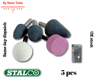 """£4.29 • Buy 5 PC STONE BIT SET GRINDING MOUNTED 1/4"""" ROUTER GRINDER DRILL CRAFT METAL"""