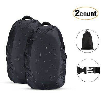 AU16.99 • Buy AGPTEK 2 Pack 30-40L Waterproof Dry Bag Backpack Camping Rain Cover Rucksack