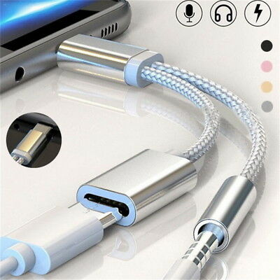 $4.96 • Buy USB-C Type C To 3.5mm Aux Audio Charging Cable Adapter Splitter Headphone Jack