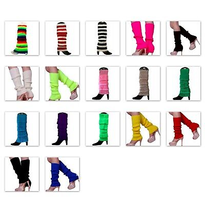 AU6.35 • Buy Leg Warmers Legging Socks Knitted Womens Ladies 80s Dance Disco Party Costume