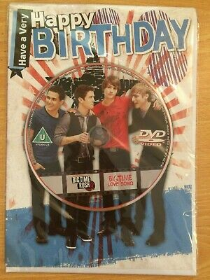 £2.50 • Buy Big Time Rush Pop Group Birthday Card With Dvd The Card With A Gift New & Sealed