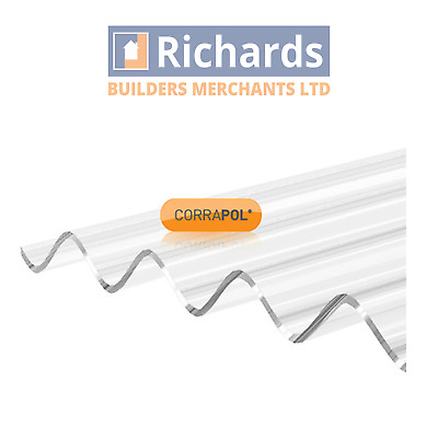 £59.84 • Buy Corrapol Corrugated Plastic Roofing Sheets | Stormproof (High Profile)