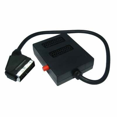 £5.18 • Buy Scart Lead Switch Box TV Cable Splitter Adapter 0.5m 2 Gang