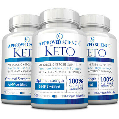 Approved Science® Keto: Pure Exogenous 4 Ketone Salts To Boost Ketosis 1 Bottle • 49.95$