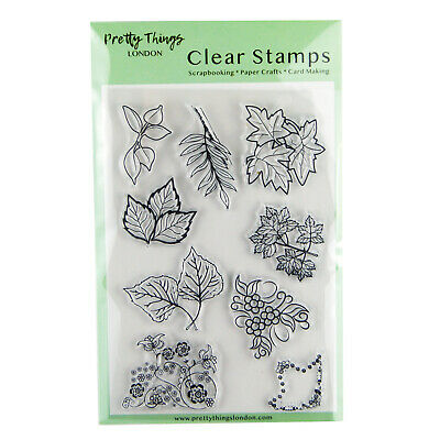 Clear Stamps Leaves Flowers Background Embellishments Card Making Paper Craft  • 4.99£