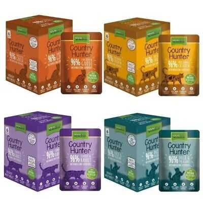 Natures Menu Country Hunter Cat Food Grain Free Wet Pouch 6 X 85 G In 4 Flavours • 8.99£