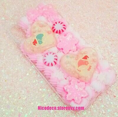 Little Twin Stars Snowflake Christmas Pastel Decoden Phone Case IPhone Xs Max • 23.88£