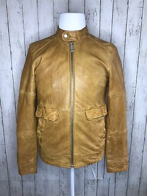 New Mens Genuine Lambskin Leather Slim Fit Biker Motorcycle Jacket for Men T444