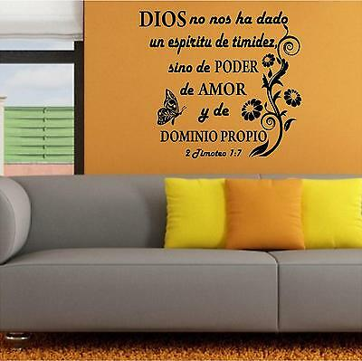 Wall Decal. Inspirational. Vinilos Decorativos Biblia. 2 Timoteo. Dominio Propio • 14.97£