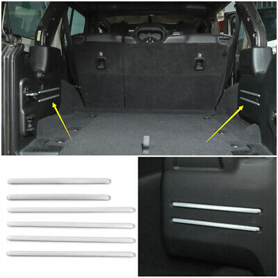 $25.19 • Buy Fit For Jeep Wrangler JL 2018 2019 Rear Tail Trunk Cargo Cover Trim Silver 6PCS