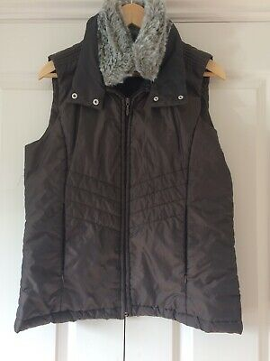 Peter Storm Padded Gilet Ladies Size 12/EUR 38 Brown With Removable Fur Trim • 7£