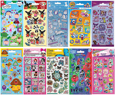 £1.79 • Buy Children's Re-usable Foiled Sticker Pack Sheets Birthday Party Bag Scrap Books