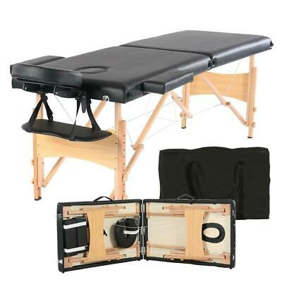 $79.90 • Buy 82  Portable Massage Table Bed Spa Facial Tattoo W/Free Carry Case 2-Fold Black