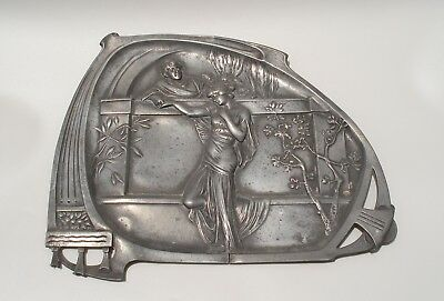 $ CDN240.63 • Buy WMF Art Nouveau Large Card Tray/wall Hanging 1906 Original Silver Plated Pewter