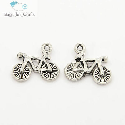 Tibetan Silver Bicycle Bike Charms Pendants 16mm Double Sided (TC65) Transport • 0.99£