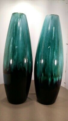 $ CDN17.99 • Buy Blue Mountain Pottery - Pair Of Vases Mold# 136 W/3 Tree Stamp