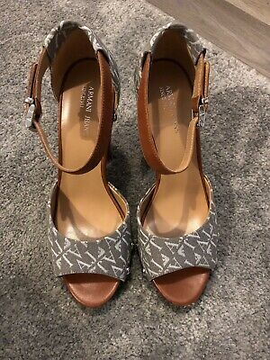 £99.95 • Buy Brand New Women's Armani Jeans Leather Block Heel Shoes. Size UK 7