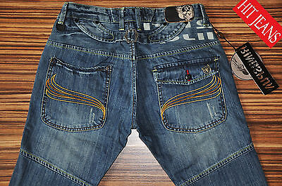 Ringspun Miner 28 30 R L.32 Mens Jeans Bnwt Slim Fit Skinny New Blue Distressed • 18.99£