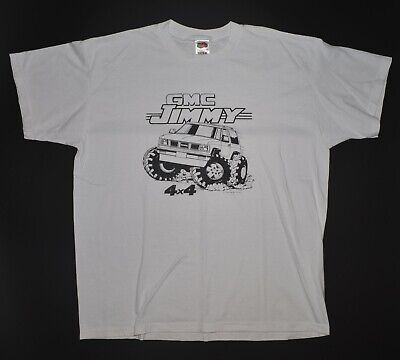 $ CDN49.97 • Buy Vintage GMC Jimmy TRUCK T Shirt Size XL White 1988 50/50 4x4 Off Road Air Waves