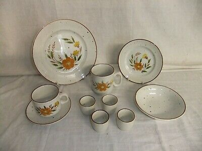 £4 • Buy C4 Pottery Stonedale Tableware By Sampson Bridgwood - Kendal - Hand Painted 9A3B
