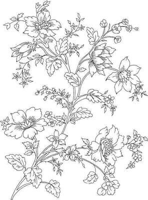 Background - Flower - Leaves #2 Unmounted Clear Stamp Approx 44x60mm • 2.99£