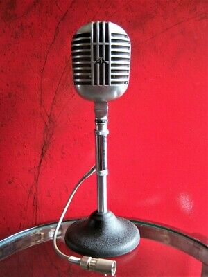 Vintage RARE 1950's Astatic DR-10 Crystal Microphone Old W F-11 Adapter Shure 55 • 222.05£