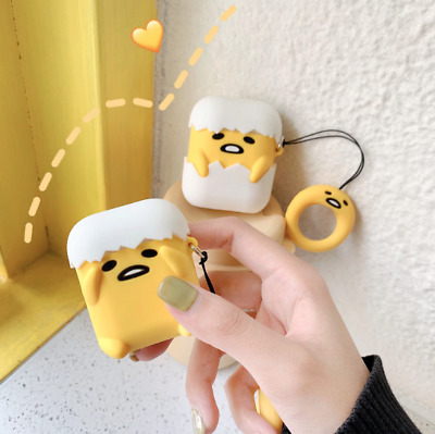 AU21.95 • Buy Cute Gudetama Lazy Egg Apple AirPod Silicone Case Cover Holder Protector