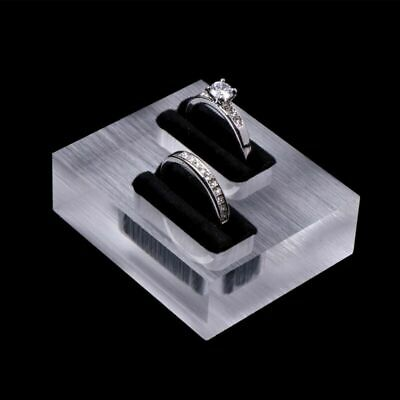 £2.42 • Buy Clear Acrylic Glass Ring Box Jewellery Display Stand Store Showcase Organizer