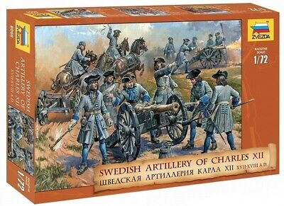 Toy Soldiers. Zvezda. 8066. Swedish Artillery Of Charles XII. 1/72 Scale. • 7.23£