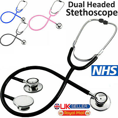 Pro Medical EMT Dual Head Stethoscope For Doctor Nurse Vet Student Health Care • 9.98£