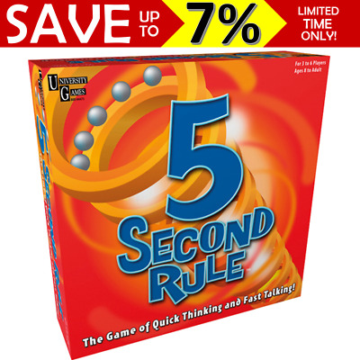 AU37.95 • Buy NEW IN BOX 5 Second Rule Board Game 04475