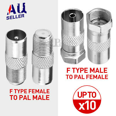 AU4.35 • Buy F-Type Male To PAL Female Socket TV Antenna Cable Connector RG6 Adaptor Adapter