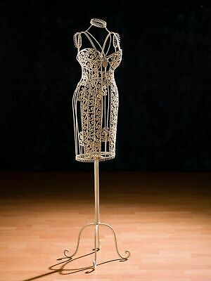 £237.90 • Buy Mannequin Metal Wrought Iron Mannequin Antique Style White Metal Dummy