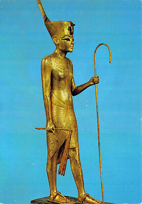 L025591 Treasures Of Tutankhamun. Gilded Statuette Of The King. George Rainbrid • 5.75£