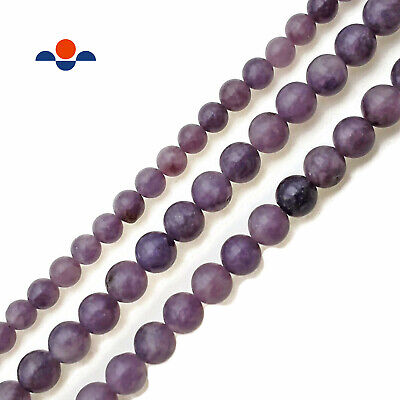 $8.49 • Buy Natural Purple Lepidolite Smooth Round Beads 6mm 8mm 10mm 15.5  Strand